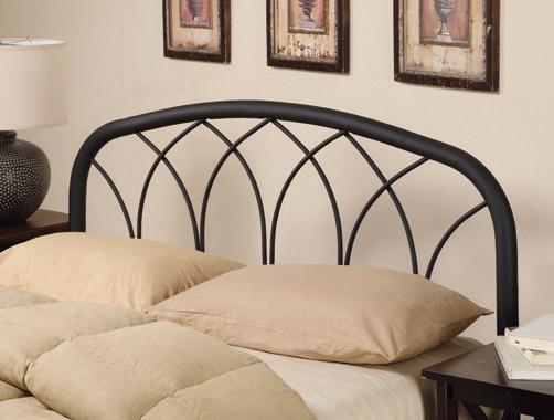 Full/Queen Arched Headboard Black