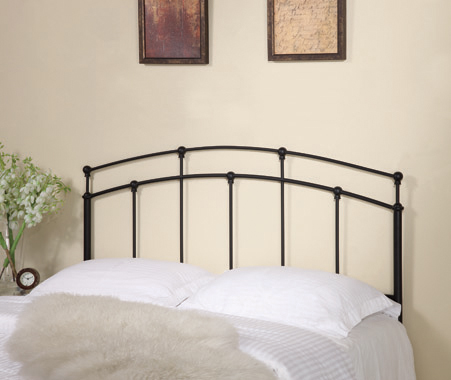 Full/Queen Metal Arched Headboard Black