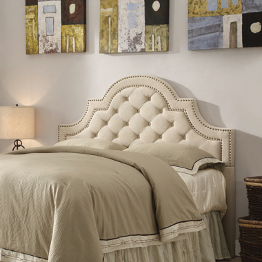 Ojai Eastern King and California King Tufted Upholstered Headboard Beige