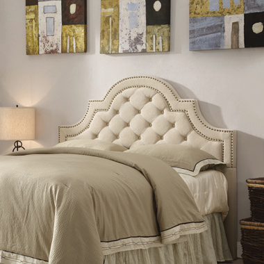 Ojai Queen and Full Tufted Upholstered Headboard Beige