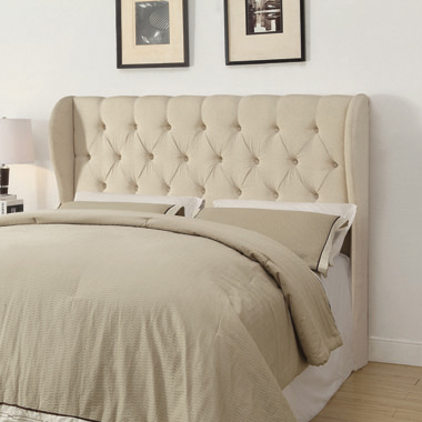 Murrieta Queen/Full Tufted Upholstered Headboard Beige