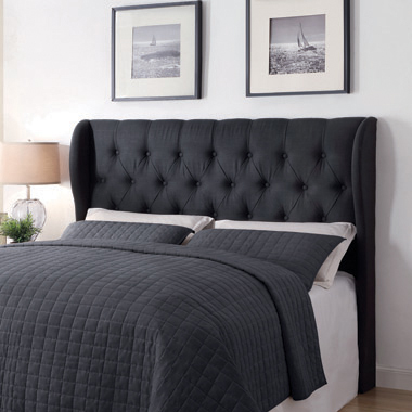 Murrieta Queen/Full Tufted Upholstered Headboard Charcoal