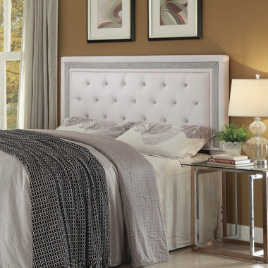 Andenne Eastern King/California King Tufted Upholstered Headboard White