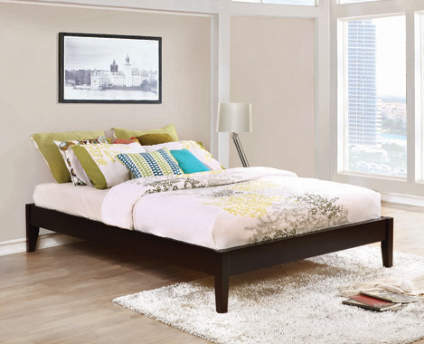 Hounslow Full Platform Bed Cappuccino - Hover