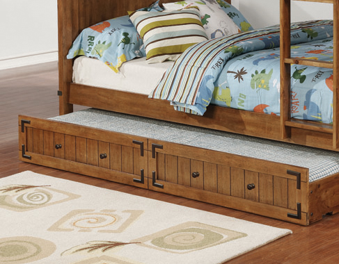 Coronado Storage Trundle Rustic Honey