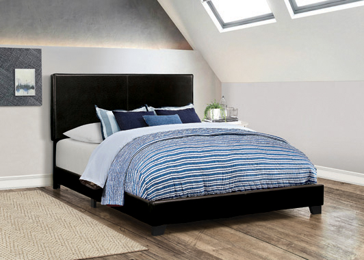Dorian Upholstered Full Bed Black - Hover