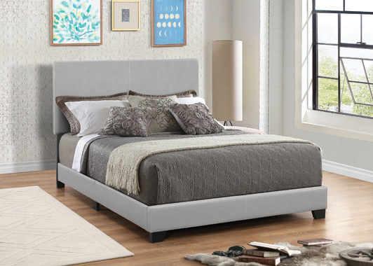 Dorian Upholstered Full Bed Grey - Hover