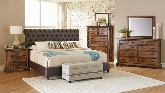 Gresham   Bedroom Set Brown and Vintage Bourbon
