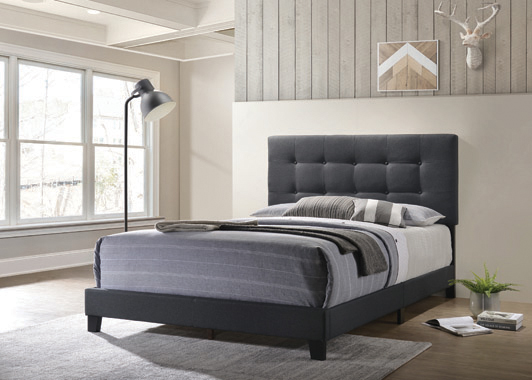 Mapes Tufted Upholstered Queen Bed Charcoal - Hover