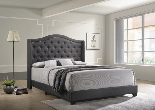 Sonoma Camel Back Queen Bed Grey - Hover