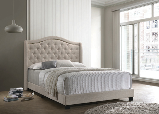 Sonoma Camel Back Queen Bed Beige - Hover