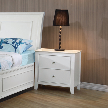 Selena 2-drawer Nightstand White - Hover
