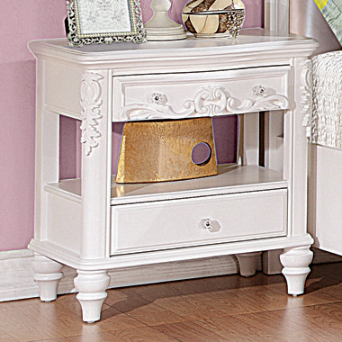Caroline 2-drawer Rectangular Nightstand White - Hover