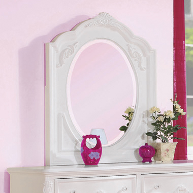 Caroline Framed Mirror White