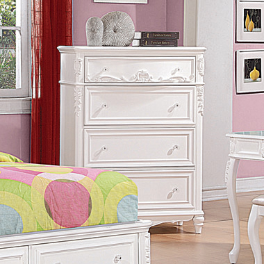 Caroline 4-drawer Rectangular Chest White - Hover