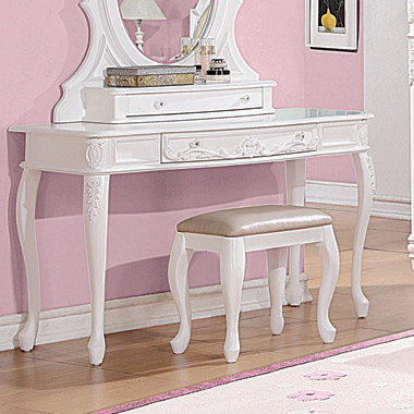 Caroline 1-drawer Vanity Desk White - Hover