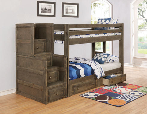 Wrangle Hill 4-drawer Stairway Chest Gun Smoke - Hover