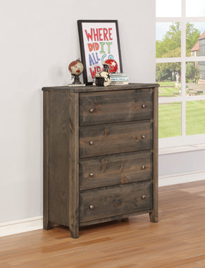 Wrangle Hill 4-drawer Chest Gun Smoke - Hover