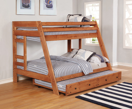 Wrangle Hill Trundle with Bunkie Mattress Amber Wash - Hover
