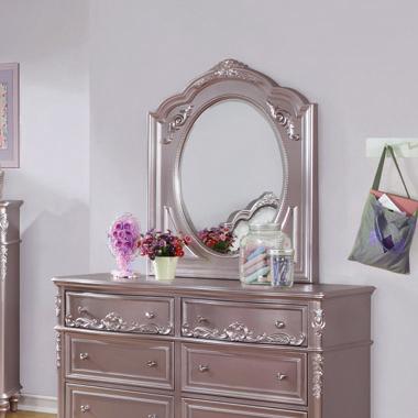 Caroline Framed Mirror Metallic Lilac - Hover