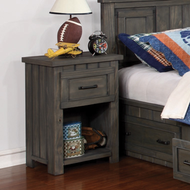 Napoleon 1-drawer Nightstand with USB Charging Ports Gunsmoke - Hover