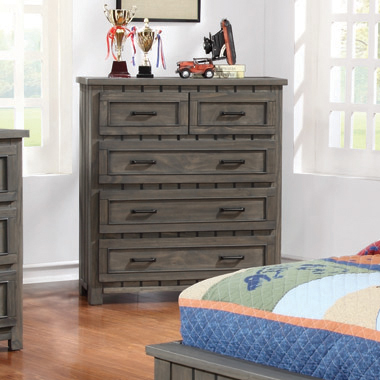 Napoleon 5-drawer Chest with Paneled Design Gunsmoke - Hover