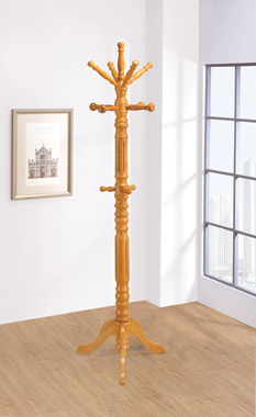 3-tier Coat Rack Light Honey - Hover