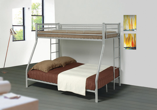 Hayward Twin over Full Bunk Bed Silver - Hover