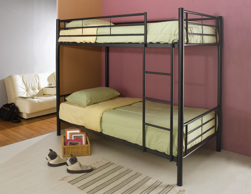 Hayward Twin over Twin Bunk Bed Black - Hover