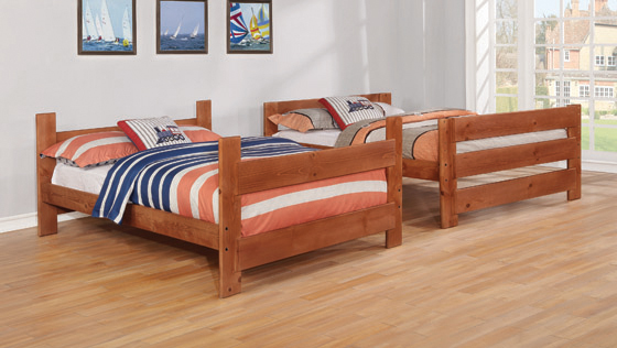 Wrangle Hill Full over Full Bunk Bed Amber Wash - Hover