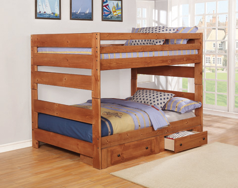 Wrangle Hill 2-drawer Under Bed Storage Amber Wash - Hover