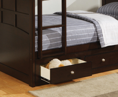 Jasper Twin Under Bed Storage Cappuccino
