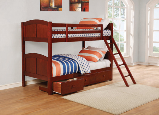 Parker Twin over Twin Panel Bunk Bed Chestnut - Hover
