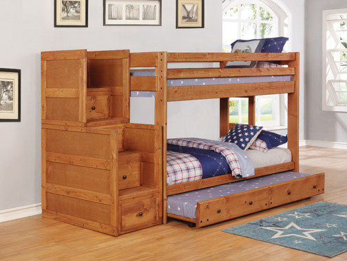 Wrangle Hill Twin over Twin Bunk Bed Amber Wash - Hover