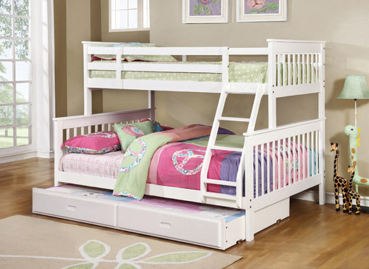 Chapman Twin over Full Bunk Bed White - Hover