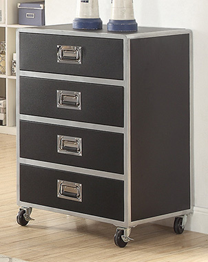 LeClair 4-drawer Chest Black - Hover