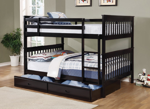 Chapman Full over Full Bunk Bed Black - Hover