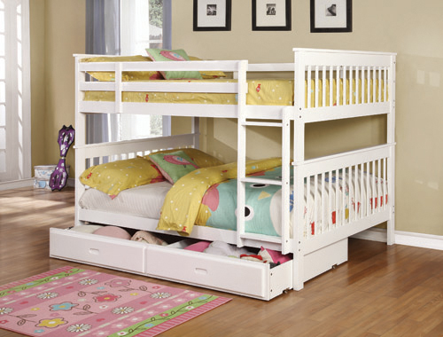 Chapman Full over Full Bunk Bed White - Hover