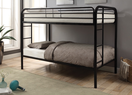 Morgan Twin over Twin Bunk Bed Black - Hover