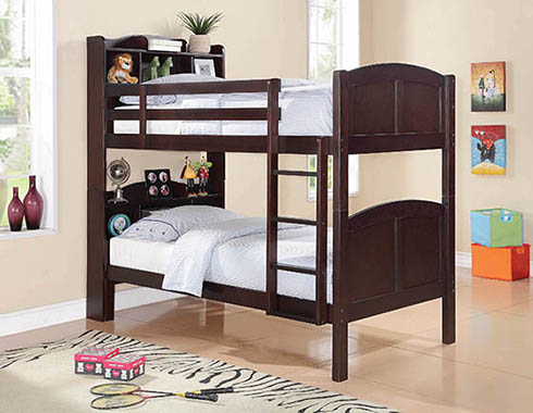 Parker Twin over Twin Storage Bunk Bed Cappuccino - Hover