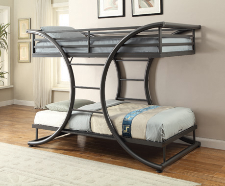 Stephan Twin over Twin Bunk Bed Gunmetal - Hover