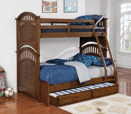 Halsted Twin over Full Bunk Bed Walnut - Hover