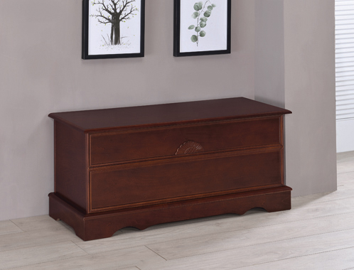 Rectangular Cedar Chest Warm Brown - Hover
