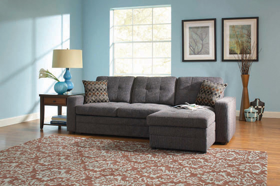Gus Sleeper Sectional Sofa Charcoal - Hover