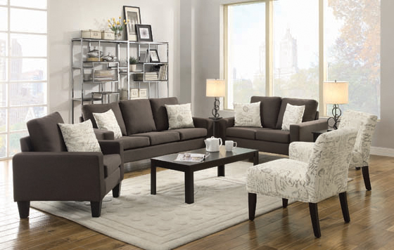 Bachman Track Arm Upholstered Sofa Grey - Hover