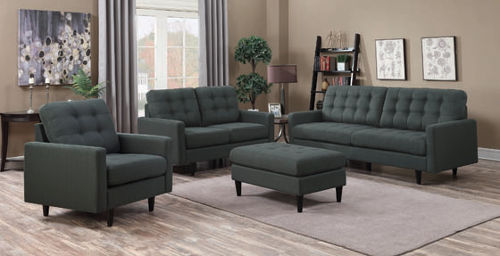 Kesson Tufted Upholstered Sofa Charcoal - Hover