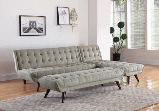 Natalia Tufted Sofa Bed Dove Grey - Hover