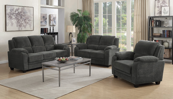Northend Upholstered Loveseat Charcoal - Hover