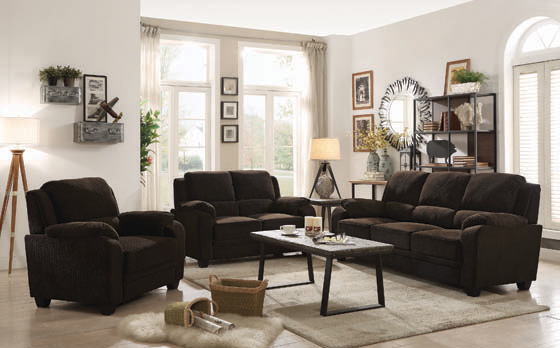 Northend Upholstered Loveseat Chocolate - Hover