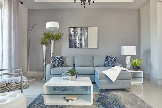 Nashua 2-piece Reversible Sectional with Storage Ottoman French Blue - Hover